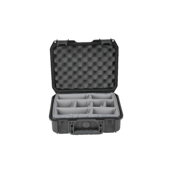 SKB 3i-serie 1209-4 waterdichte koffer met vakverdelers