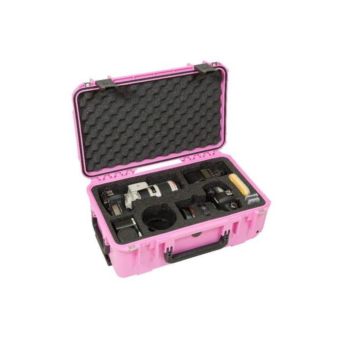 SKB iSeries 2011-7 Twee DSLR's met lenzencase (roze)