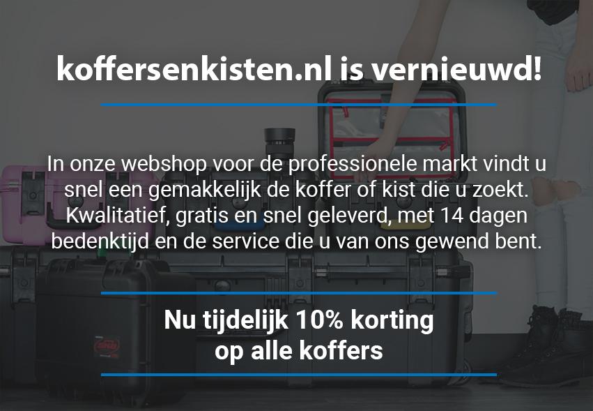 Welkomstkorting koffersenkisten.nl